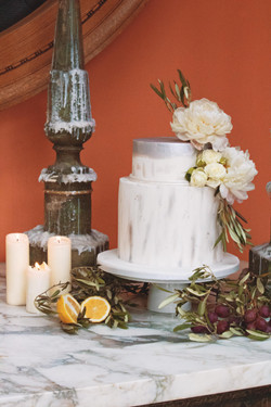 Tuscan Themed Wedding Cake
