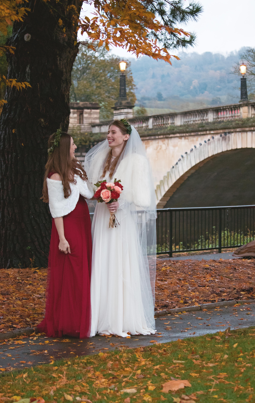 Bridesmaid & Bride Shot in Bath