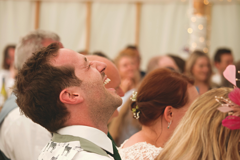 Laugher at Wedding Speeches