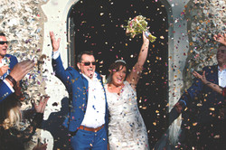 Surrey Wedding Photography Confetti Shot