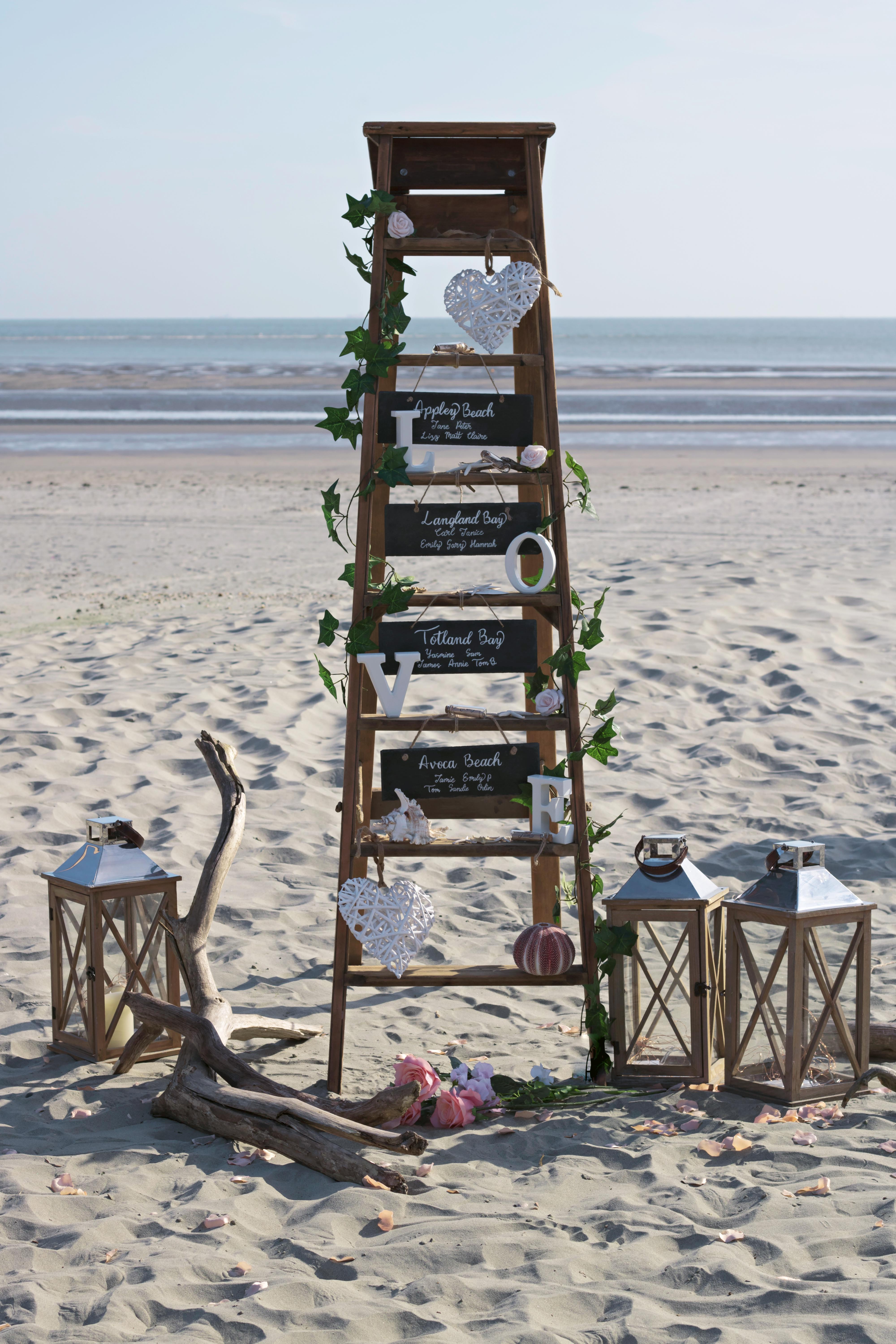 Stunning Ladder for Beach Wedding