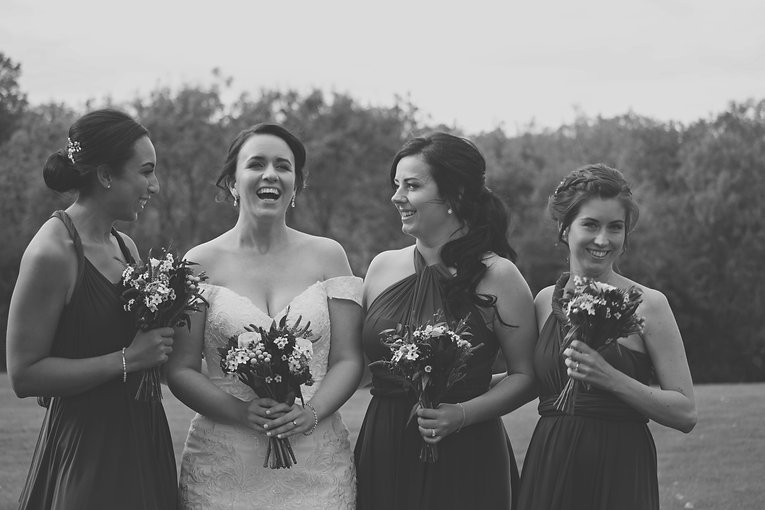 Relaxed Bride & Bridesmaids
