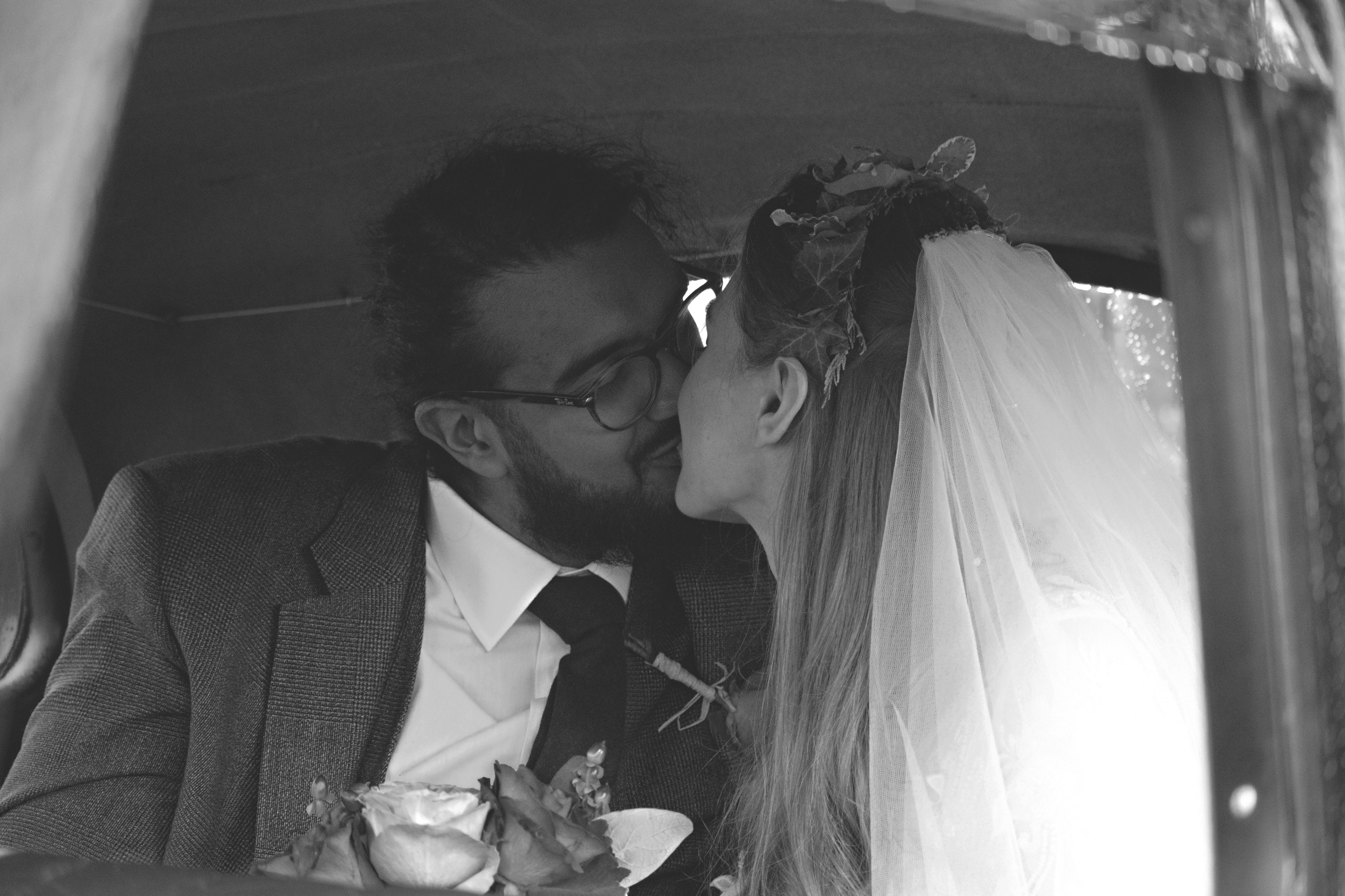 Wedding Car Couple Shots in South West