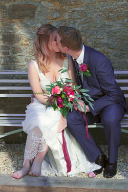 Romantic Spring Wedding Couple Shot