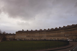 The Royal Crescent on a Winter Day