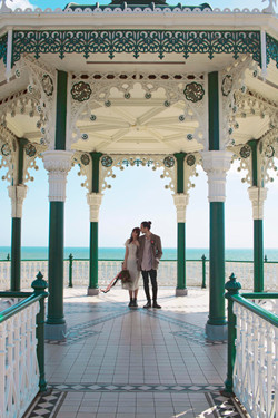 Couple Portraits at Brighton Band Stand