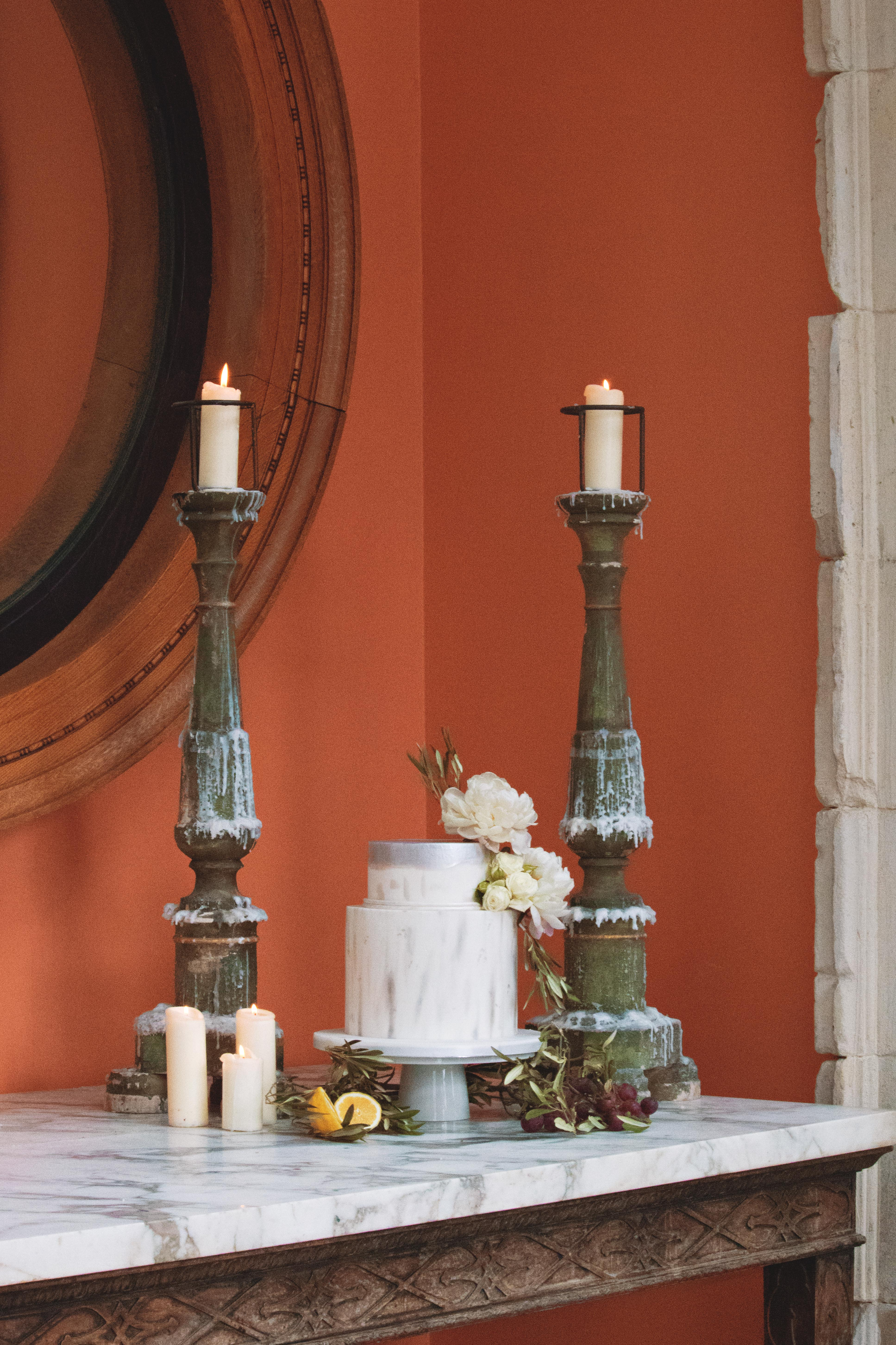 Euridge Manor Tuscan Themed Cake Table at Euridge Manor