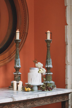 Euridge Manor Tuscan Themed Cake Table at Euridge Manor