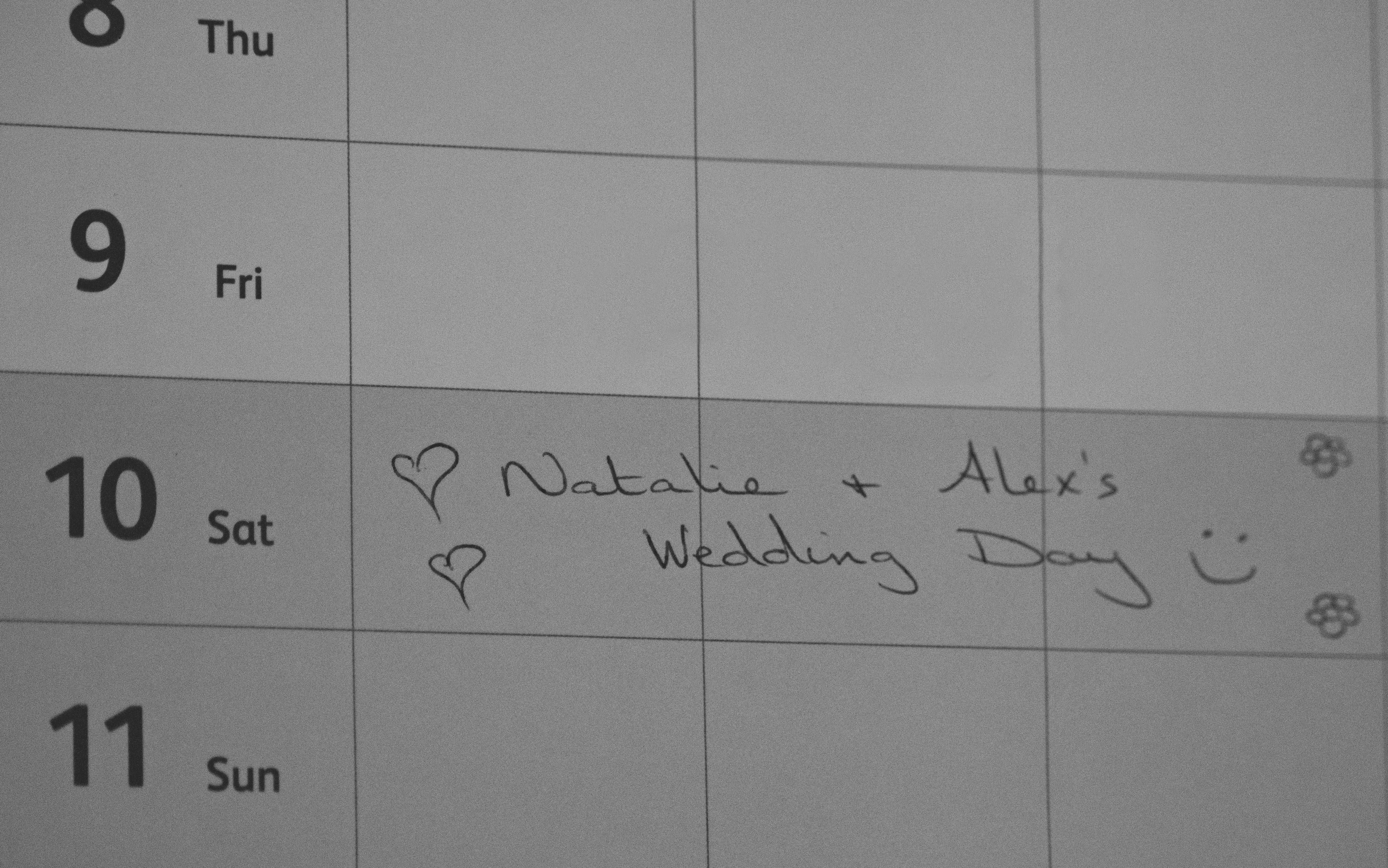 Natalie & Alex's Wedding Date