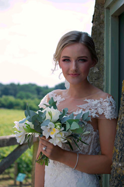 Relaxed Bridal Portrait at Vineyard