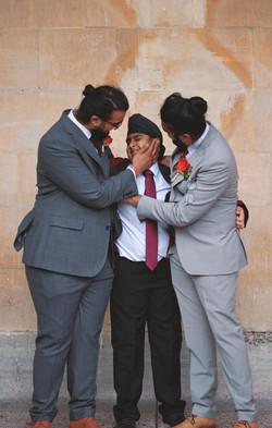 Asian Fushion Family Wedding Shots in Bath