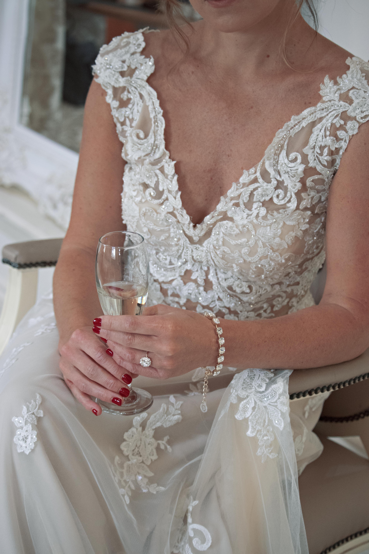 A Quiet Moment at Bridal Prep