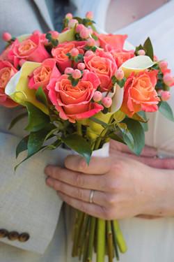 Pink & Peach Wedding Florals