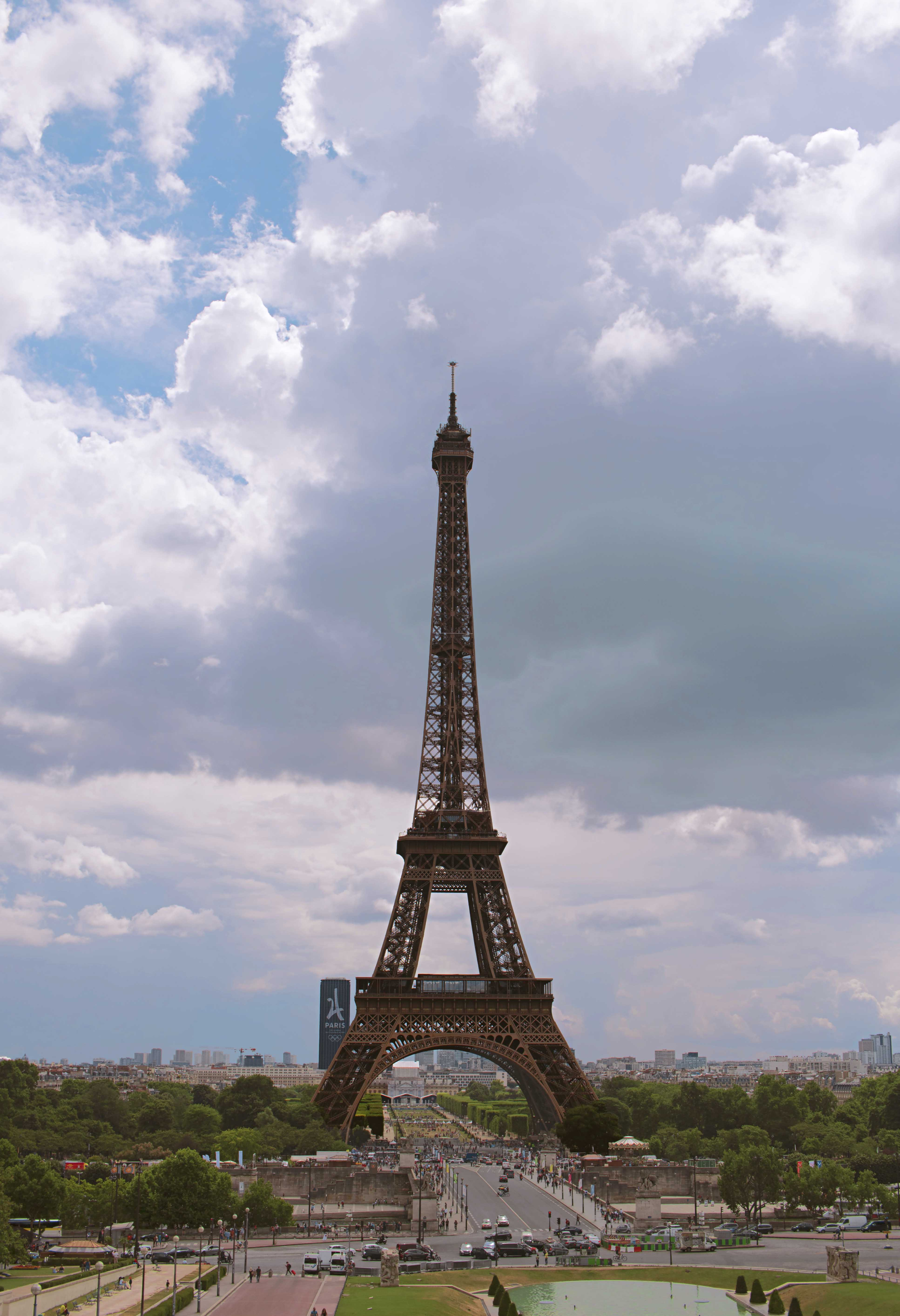 The Eiffel Tower Wide Angle Photography