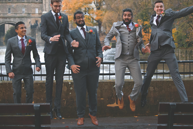 Groomsmen Shots in South West Winter Wedding