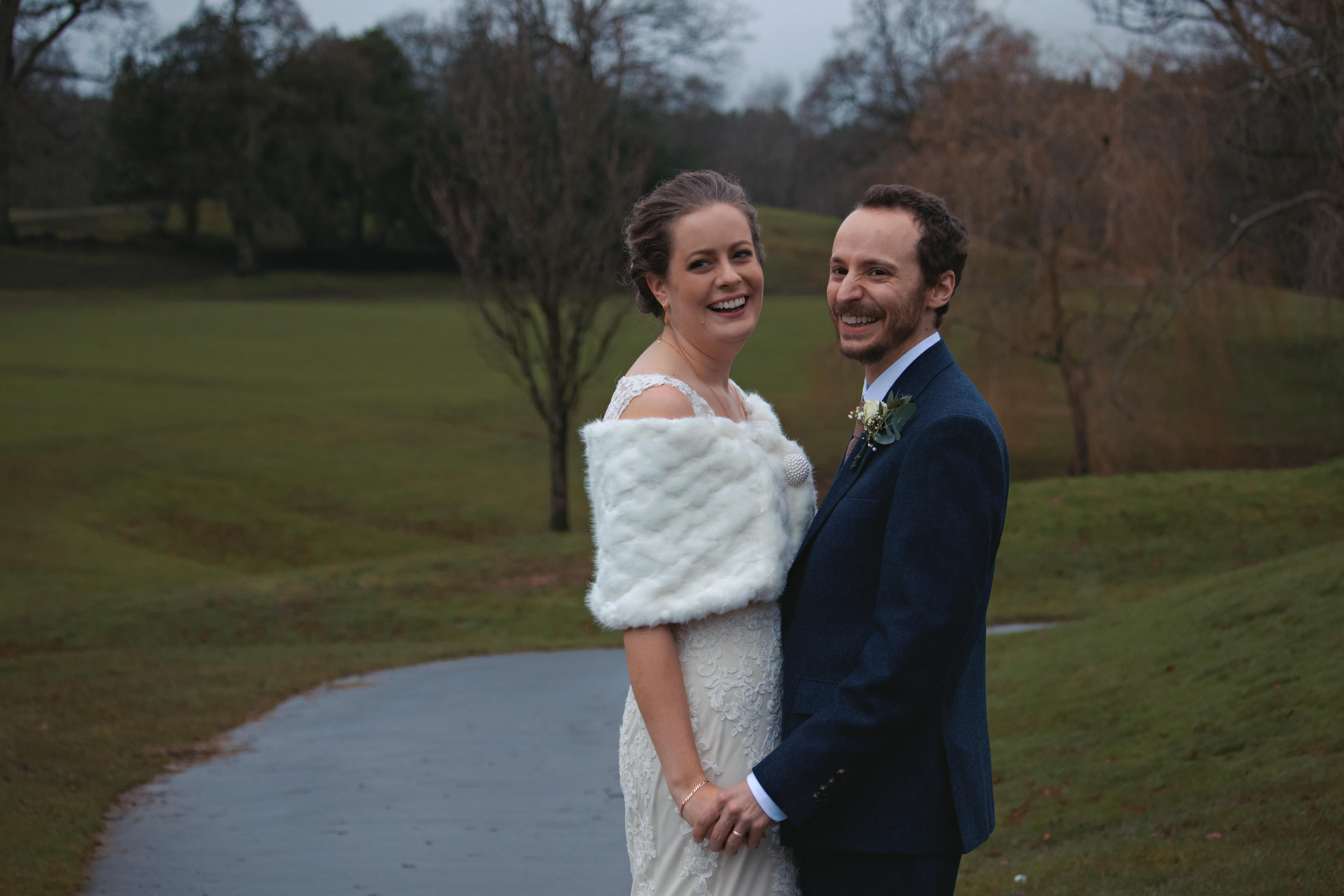 Winter Wedding Outdoor Couple Shots