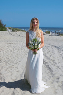 Relaxed Bridal Portraits by the Sea at West Wittering