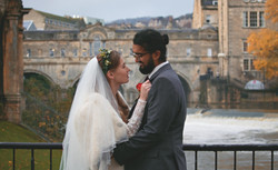 Winter Wedding Relaxed Couple Shots in Bath