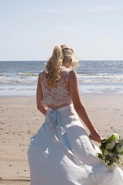 Relaxed Bridal Portraits at West Wittering