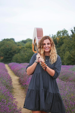 Branding Shoot with Musician at the Lavender