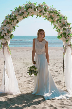 Floral Arch Bridal Portraits
