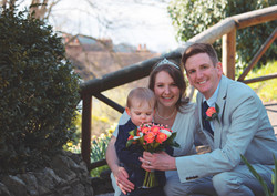 Relaxed Wedding Family Portrait