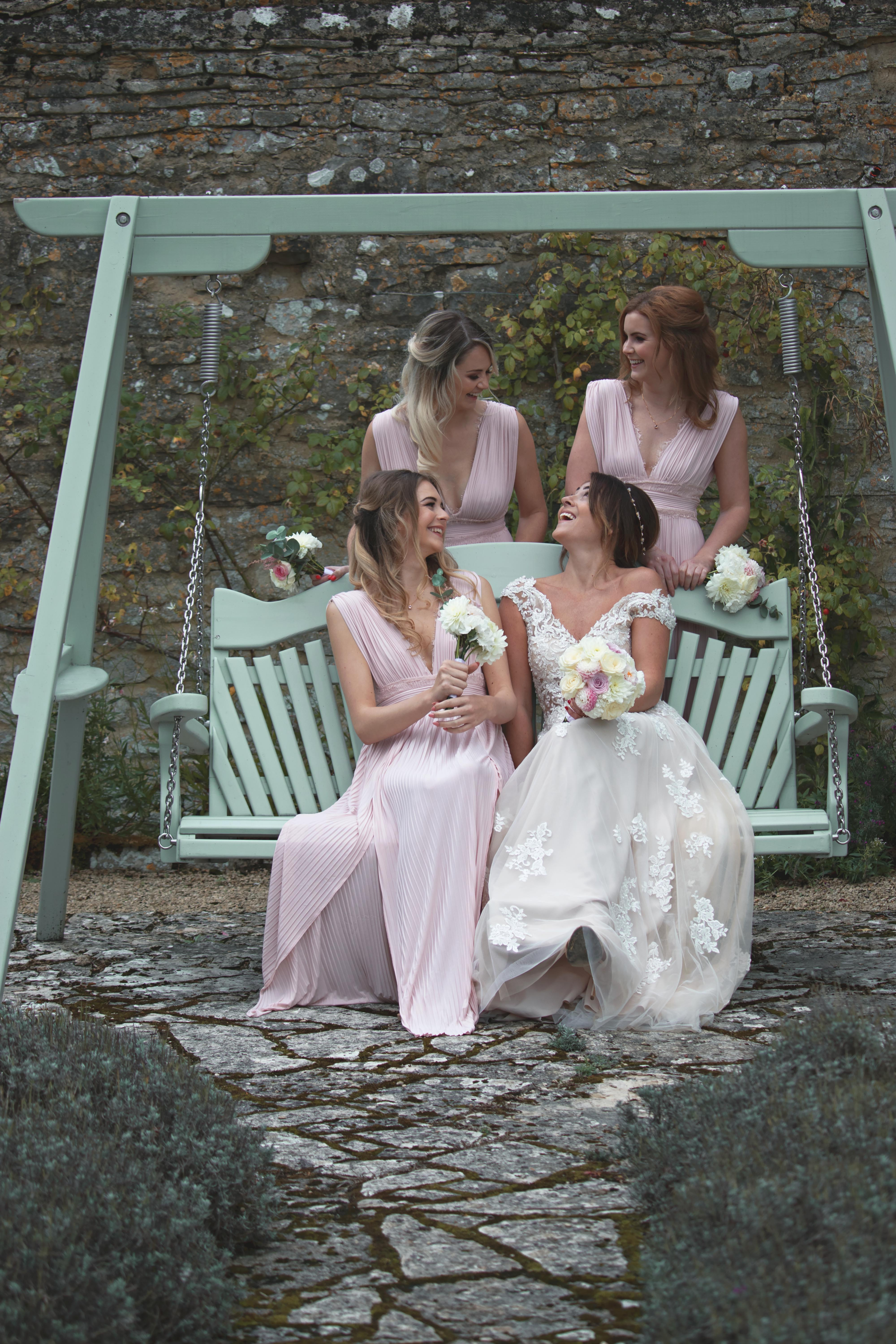Relaxed Shots of Bride and Bridesmaids