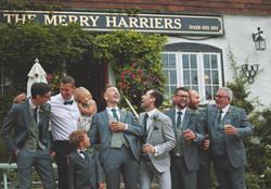 Groom & Groomsmen at Grooms Prep in Surrey Pub