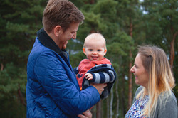 Autumnal Family Portraits at Horsell Common