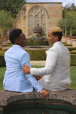 Romantic Outdoor Wedding Couple Shots at Euridge Manor