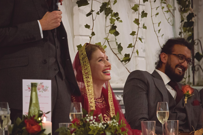 Bride's Wedding Speech Reaction