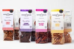 Good Grain Bakery Crostini Pack Shots for Ocado Campaign