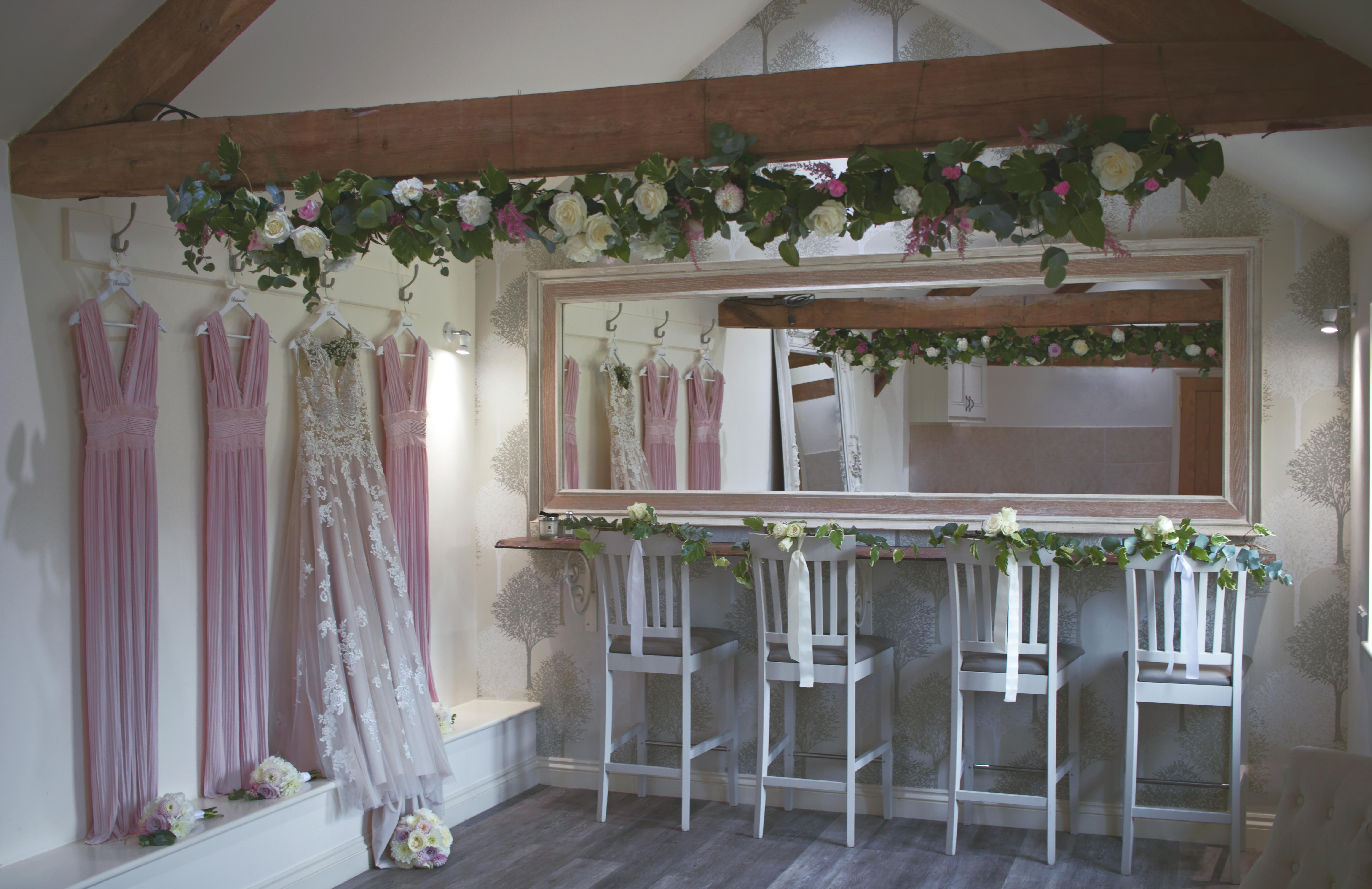 Blush Prink Bridemaids Dresses Bridal Prep Caswell House