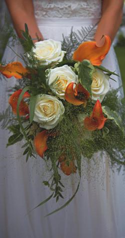 Orange & Cream Wedding Florals