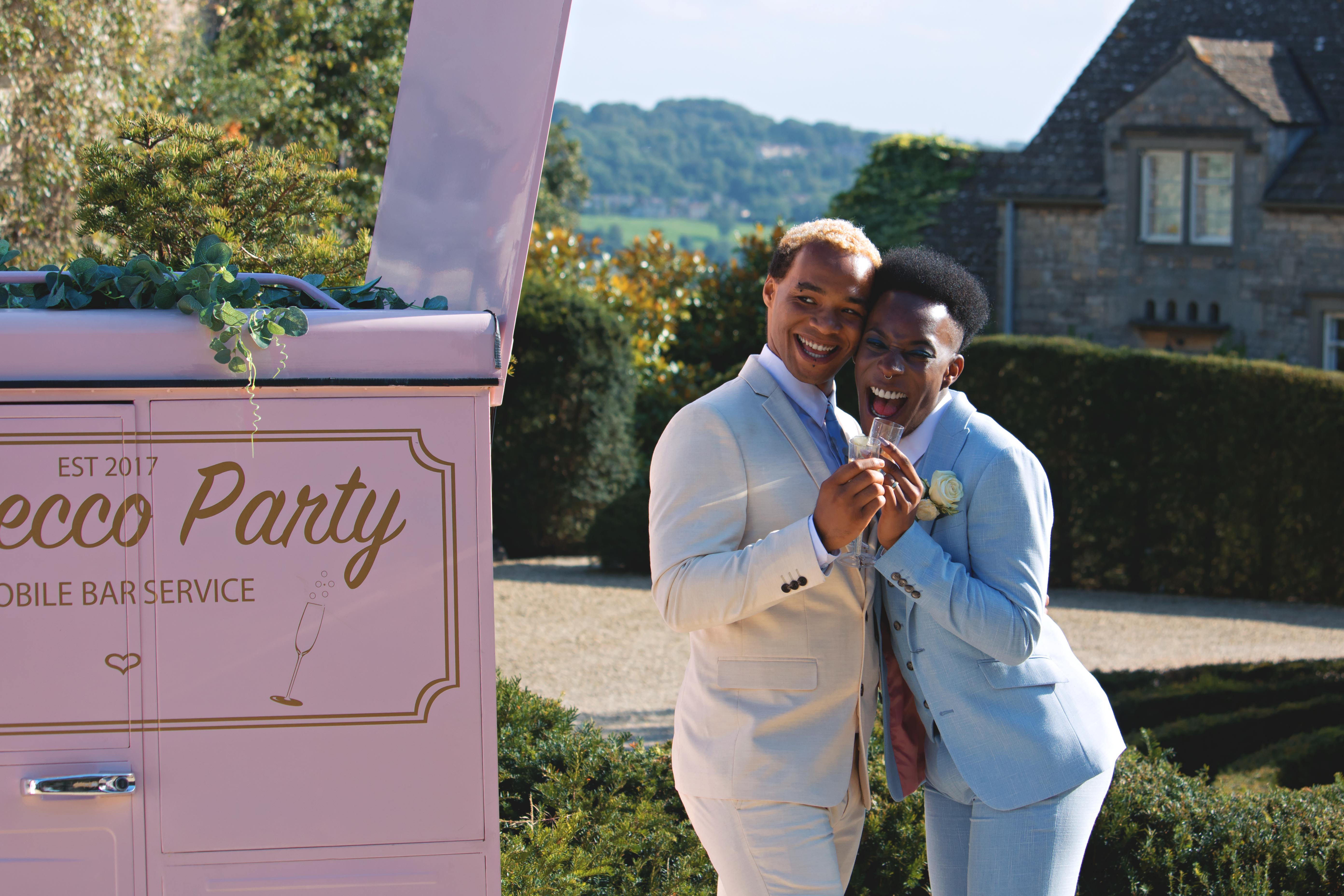 Couple Portraits with Prosecco Tuk-Tuk at Euridge Manor