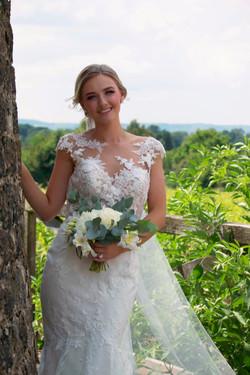 Documentary Bridal Portrait at Vineyard
