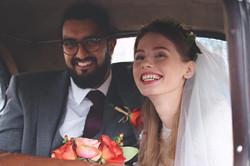 Wedding Car Couple Shots in Somerset