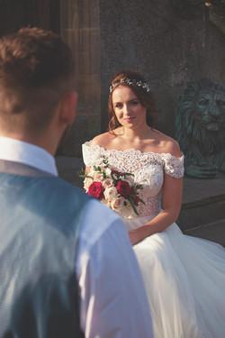 Romantic Couple Portraits at Walton Castle for a Winter Wedding