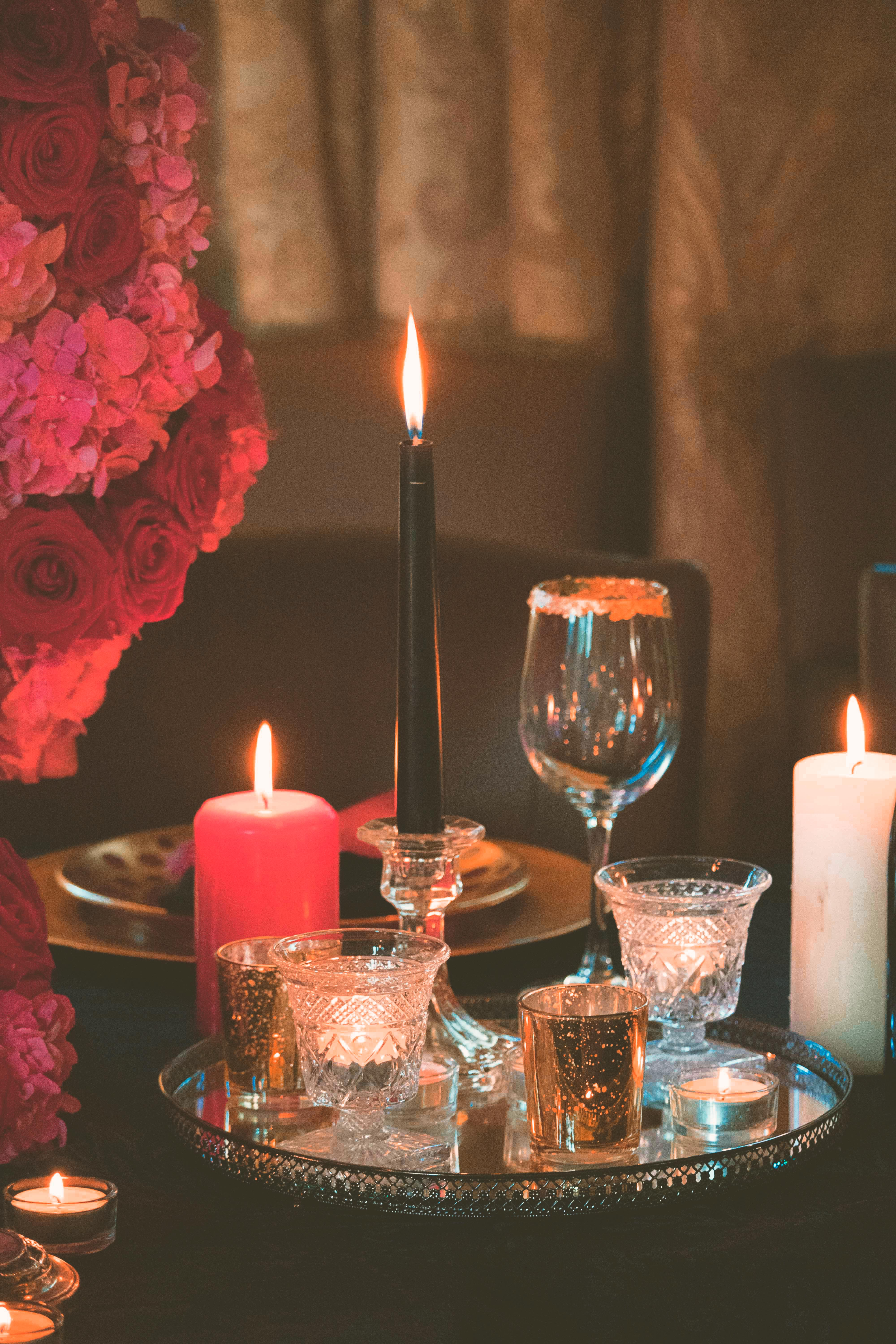 Gothic Romantic Wedding Table Photography