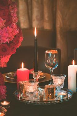 Gothic Romantic Wedding Table Photography