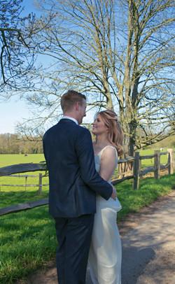 Relaxed Couple Shots at Surrey Wedding at Gate Street Barn