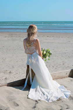 Beach Wedding in U.K. Relaxed Bridal Portraits
