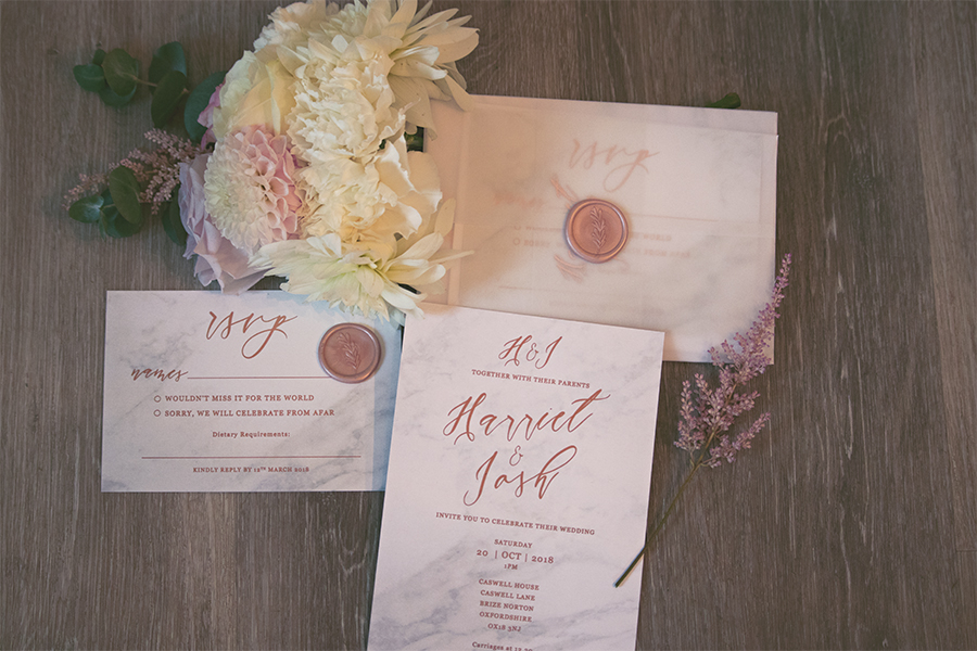 Blush Pink Wedding Stationery