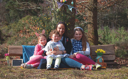Sweet Family Portraits at Easter Time in Surrey