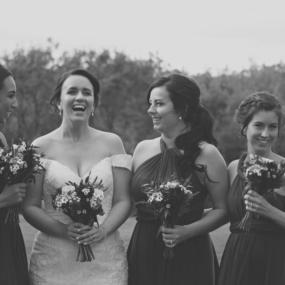 Candid Shot of Bride With her Bridesmaid