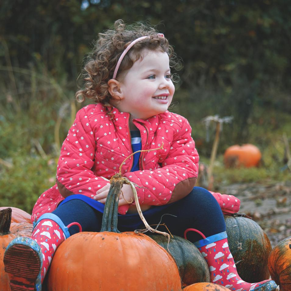 Candid Pumpkin Family Portraits