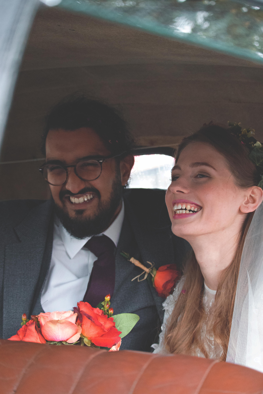 Candid Wedding Car Couple Shots