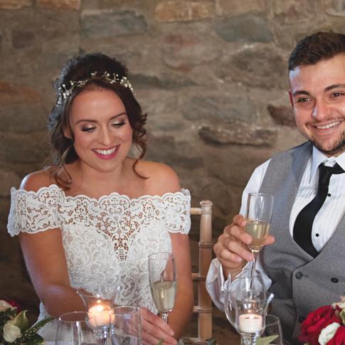 Winter Wedding Castle Reception