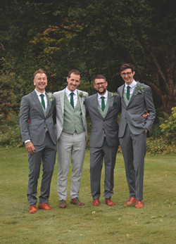 Formal but Relaxed Groomsman Shots
