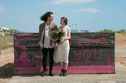 "Couple Portraits by ""I Love You Graffiti"""